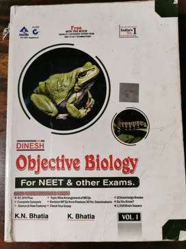 DINESH OBJECTIVE BIOLOGY for NEET & other Exams(vol 1, 2 & 3)