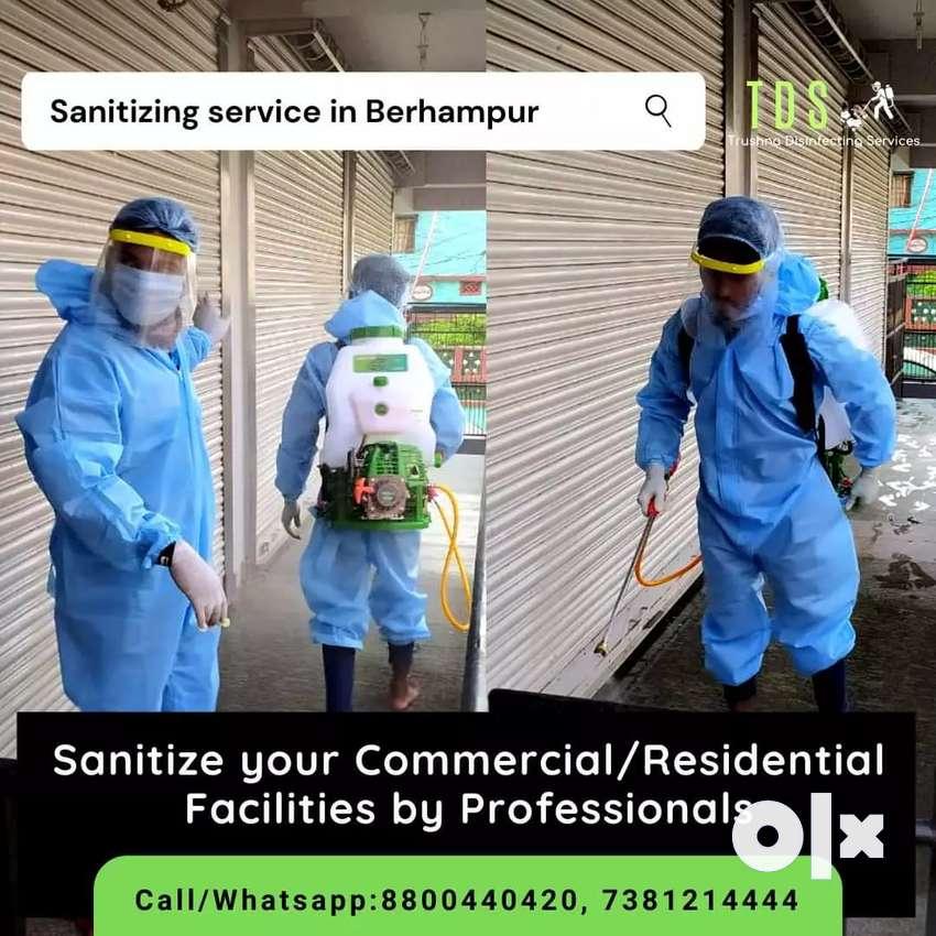 Sanitizing service in Ganjam