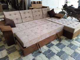 Sofa cum bed with 8 year warranty