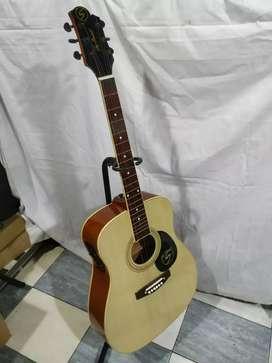 Gitar akustik elektrik sammick jumbo pikguard new string