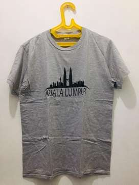 Kaos Grey T-Shirt Kuala Lumpur Ukuran L Mulus