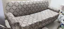Cream/ light brown Sofa set   5 seater