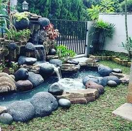Jasa pembuatan kolam relief tebing air terjun
