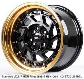 NAMROLE JD217 HSR R16X8/9 H8X100-114,3 ET30/25 BK/GOLD