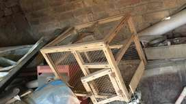Small birds cage made of wood