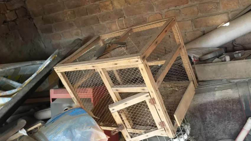 Small birds cage made of wood 0