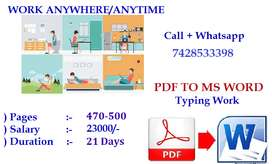 Get The Best Use Of Your Free Time -- Typing Work