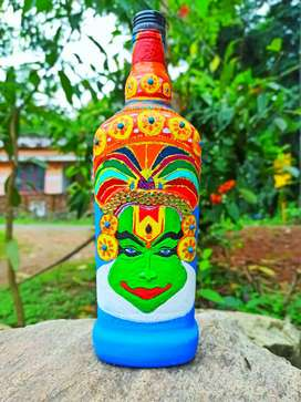 Kadhakali  bottle art