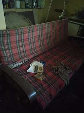 3+1+1 wooden sofa set on good condition