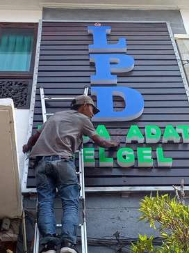 Huruf Timbul Acrylic Letter Sign Letter Timbul Stainles Murah