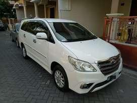 Innova type V MT bensin 2014 asli AB tgn 1, warna putih kondisi bagus