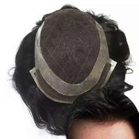 MEN HAIR PATCH FRONT SWISS LACE WITH 6 MONTH GUARANTEE