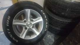 528 Rim With tyres for mehran