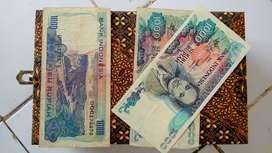 Uang kertas kuno Rp 1000 tahun 1980
