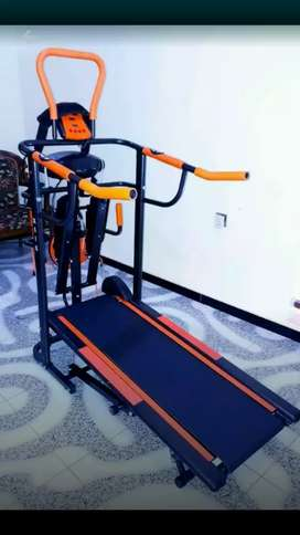 Jual alat fitnes treadmill manual 6 fungsi + massager