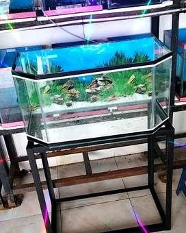 aquarium lengkap + rak