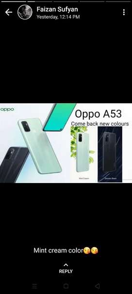 Oppo A53 is come back in new clr 4/64