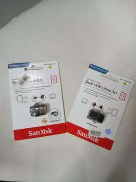 FD Flashdisk OTG Sandisk 16 GB dan 32 GB