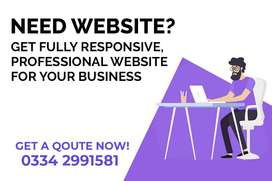 Professional website design, Ecommerce website, business website