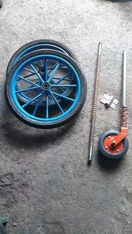Roda Gerobak Jari 6 Besar 1 Set