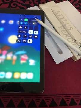 ipad 6gen 128gb wifi+cellular & caseU stylus all working condition