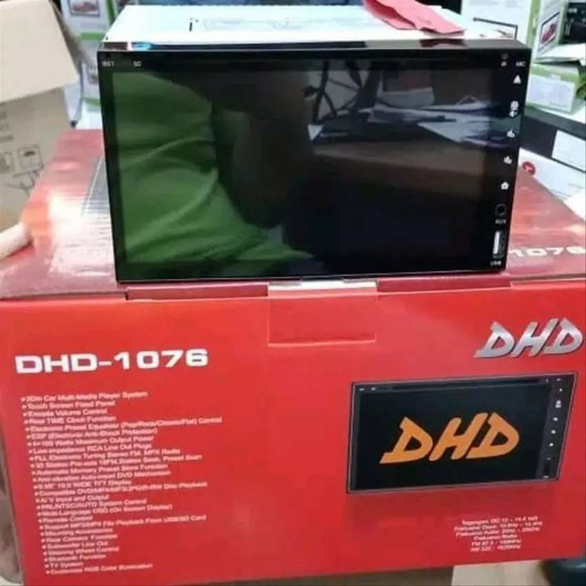 Paket murah DOUBLE DIN DHD 1076, gambar kualitas HD, gratis antena