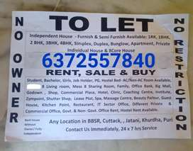 Independent house any location in bbsr living room special provided jn