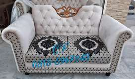 Crown design 7seater sofa set in Malahi n jacquard fabric..