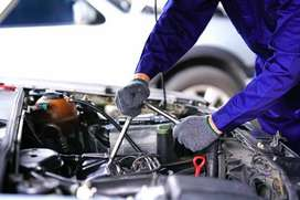 Professional Mechanic Repairing Car