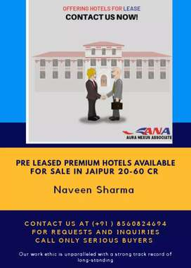 Pre leased 3 star Hotel available for sale in Jaipur