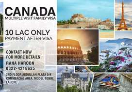 We are offering Canada multiple family visit visa 0% advance.