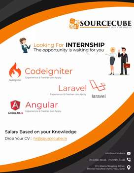 Free Internship program for Fresher's  with monthly  salary
