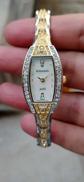 Romanson swiss made with box ladies watch