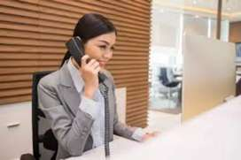 Vacancy for receptionist job only