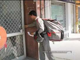 Small parcel delivery with two wheeler..