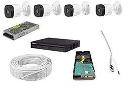 4 CCTV Camera Setup