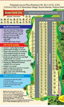 బిల్డింగ్స్ ప్రక్కనే- అగిరిపల్లి దగ్గర-అతి తక్కువ ధర లో