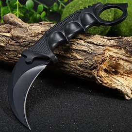 Pisau Karambit Black Tactical Militer Army