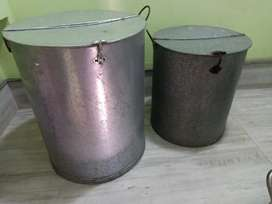 Tin plated large containers (new )
