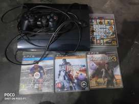 PS3 , 4 games and pc monitor(Gta5,uncharted 3,fifa 15, battlefield 4)