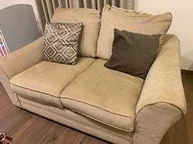 Beautiful cream sofa , cotton upholstery
