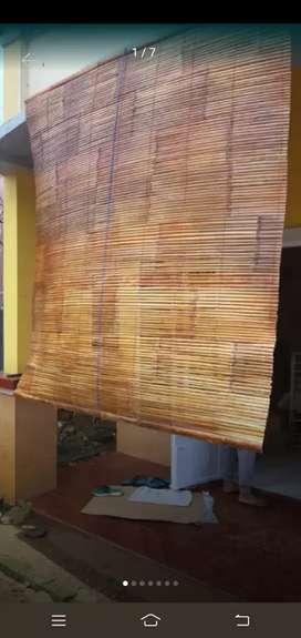Jual tirai bambu dan kulit dan kulit bambu
