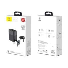 Travel DUKE Adapter Charger BASEUS ORIGINAL - EU US UK Plug Adapter