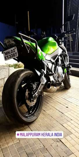 Kawasaki Z650 with Akropovic Full System Exhaust worth 1 lakh. Ninja/Z
