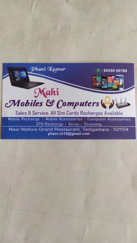 Mahi Mobile's And Computer Tadigadapa