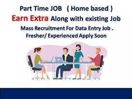 DATA ENTRY WORK FROM HOME PART TIME JOB