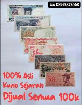 Asli Uang Kuno Antik Jadul Sejarah