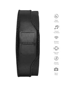 Diesel Activity Tracker Black Leather