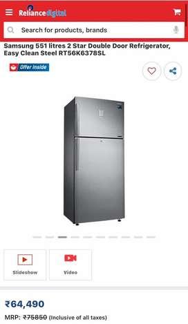 Samsung 551 ltr fridge with big disccount