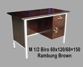 Mjb mebel - promo meja tulis1/2 biro kayu